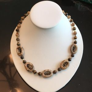 Picture Jasper and Tiger's Eye necklace